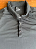 Nike Golf Dri-fit Mens XL Charcoal Gray Short Sleeve Golf Polo Shirt B45