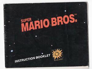 Super Mario Bros. 1985 Black Box NES Nintendo Instruction Manual