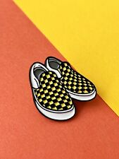 Black And Yellow Vans Style Enamel Pin, Perfect For The Skater Dudes....