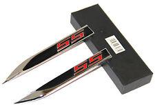 2x Chrome SS Emblem badge Knife Type 3D For Camaro Chevrolet GM series S BK