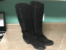 MISS SIXTY ISSAC SLOUCHY DISTRESSED BLACK BOOTS SIZE 39 1/2 (CON20)
