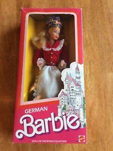 1986 GERMAN BARBIE - 3188 - ORIGINAL BOX UNOPENED- DOLLS OF THE WORLD