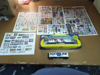 HUGE LOT HO SCALE ATHEARN B.N.1876 ENGINE,SOO LINE car,4 BIG SETS TRAIN SIGNS