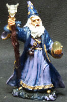 """OMEN   Wizard with Staff and Crystal Ball   Statue  Figurine  H4"""""""