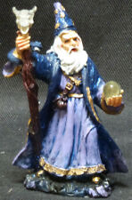 OMEN   Wizard with Staff and Crystal Ball   Statue  Figurine  H4""