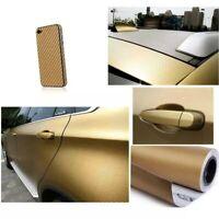 Pellicola Carbonio Oro Gold 3d Adesiva 30x127Cm Wrapping Auto Moto