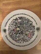 Buffalo China.1958 Christmas Carol Plate