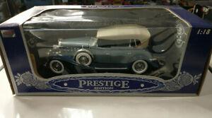 1932 Cadillac Sport Phaeton Blue Anson Prestige Edition 1:18 Diecast Car #30383