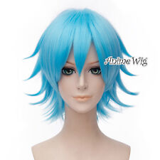 Hot Anime For Rick And Morty Hair 30cm Short Sky Blue Unisex Anime Cosplay Wig