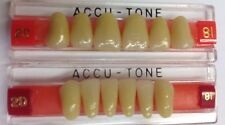 Acrylic teeth for Dentures, Shade 81 Accutone 2D upper & lower Set Of Anterior