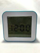 Bedside Alarm Clock, Multi-functional Rotate Digital, Temperature, Timer, Blue