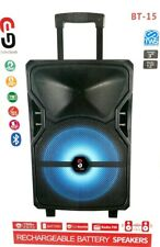 "1500W 12"" Rechargeable PA Speaker+Bluetooth+USB/SD+Free Mic"