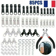 Kit de 85 zipper réparation fermeture éclair DIY  Install Pince Vendeur Français