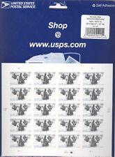 USPS Sheet of 20 Stamps The Korean War Veterans Memorial History 2002 MNH 3803