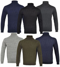 Cotton Funnel Neck Patternless Jumpers & Cardigans for Men