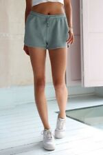 brandy melville teal green high rise cotton Summer thermal shorts NWT sz S