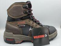 "Wolverine Men's Legend 6"" WP Dark Brown Composite Toe Leather Boots Size 7 EW"