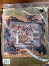 Needlework Picture Kit The Potting Shed 18 x 14 Embroidery 30779 Needlepoint NIP