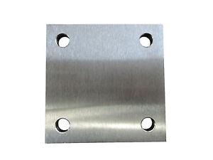 Ankerplatte VA Edelstahl geschliffen 120x120x8mm Kopfplatte Anschweißplatte