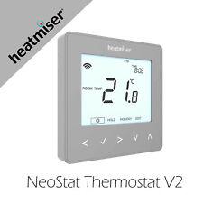 Heatmiser neoStat Programmable Thermostat - Platinum Silver