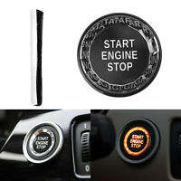 Black Engine Start Stop Switch Button Cover Crystal For BMW E Chassis E90 E92 A5