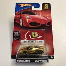 Hot Wheels Ferrari Racer Gold Enzo Ferrari Chrome Limited Edition Anniversary