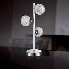 Wofi Lampe de table PRESTO 3 feuilles Chrome Panier Treillis Métallique