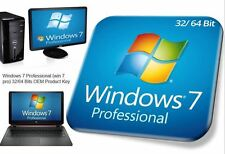 MS Windows 7 Professional 32/64 BIT SP1 Deutsch OEM Lizenz Download