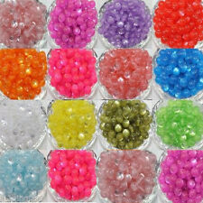 50Pcs 12Colors Cats Eye Round  Acrylic Beads 8mm  Making DIY Bracelet Necklace