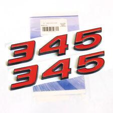 2pcs OEM Black 345 Emblems Badge 3D for Dodge Challenger RAM 345 F1 Red