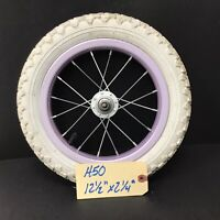 "Complete 12"" Front Bicycle Purple Wheel w/ Tire 12 1/2 X 2 1/4"" Kid's Bike #H50"