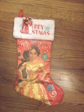 """Disney Elena of Avalor Merry Christmas 20"""" Red- White & Green Stocking Nwt"""