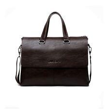Men's Genuine Leather Casual Messenger Bag Business Briefcase Shoulder Bag Brown