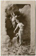1914 Amour Enlacant Grace Bound Cupid Statua Angelo FP B/N Mastroianni