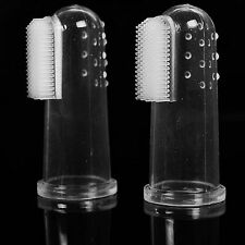 Soft Finger Toothbrush Pet Dog Oral Dental Cleaning Teeth Care Hygiene Brush