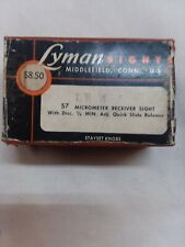 Believed to be new-Lyman 57Le 4&5 Peep Sight for British Lee Enfield mark 4 or 5