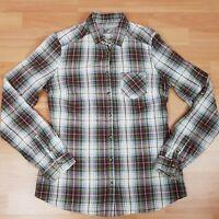 Massimo Dutti Shirt Size 38/28 AU S Check Long Sleeve