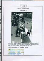 565248 / Motorrad Beleg Autogramm Laszlo Szabo