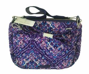 Vera Bradley Carson Shoulder Bag Purse Regal Rosette Crossbody Faux Leather Trim
