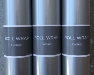 24M Hallmark Silver Wrapping Paper Rolls12 x 2 metres roll - Christmas, Birthday