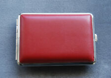 Red Leatherette Double Sided Pocket Cigarette / Personal Case Made in Germany
