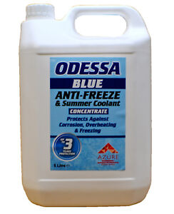 Odessa Blue Antifreeze & Summer Coolant Concentrate For All Engine Types - 5L