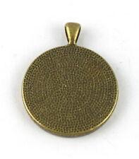 15Pcs Antiqued bronze Round Cabochon Settings Charm 30mm