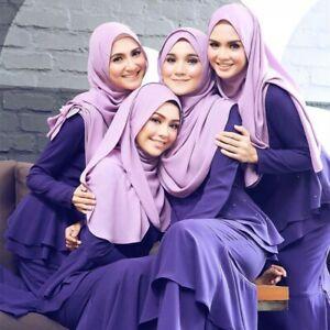 Premium Chiffon Muslim Hijab Women's Head Wrap Shawl Plain Fashion Islamic Scarf