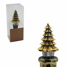 Christmas Character Gold Wine Bottle Stopper Cork - 3D Tree