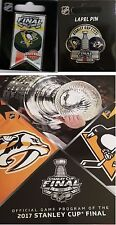 2017 STANLEY CUP FINAL PROGRAM + PITTSBURGH PENGUINS CHAMPIONS TWO (2) PIN SET
