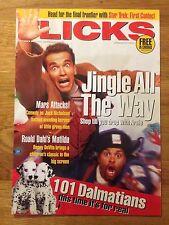 Flicks Magazine Dec 96 - Jingle All the Way Schwarzenegger Mars Attacks! Matilda