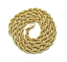 """Authentic 14K Yellow Gold Rope Chain 24"""" 5mm wide"""