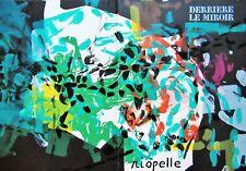 RIOPELLE - DERRIERE LE MIROIR ORIGINAL LITHOGRAPH - 1968 - FREE SHIP US !