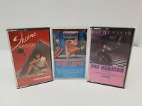 Pop Women Cassette Tapes Lot of 3 Pat Benatar, Cyndi Lauper, Sheena Easton